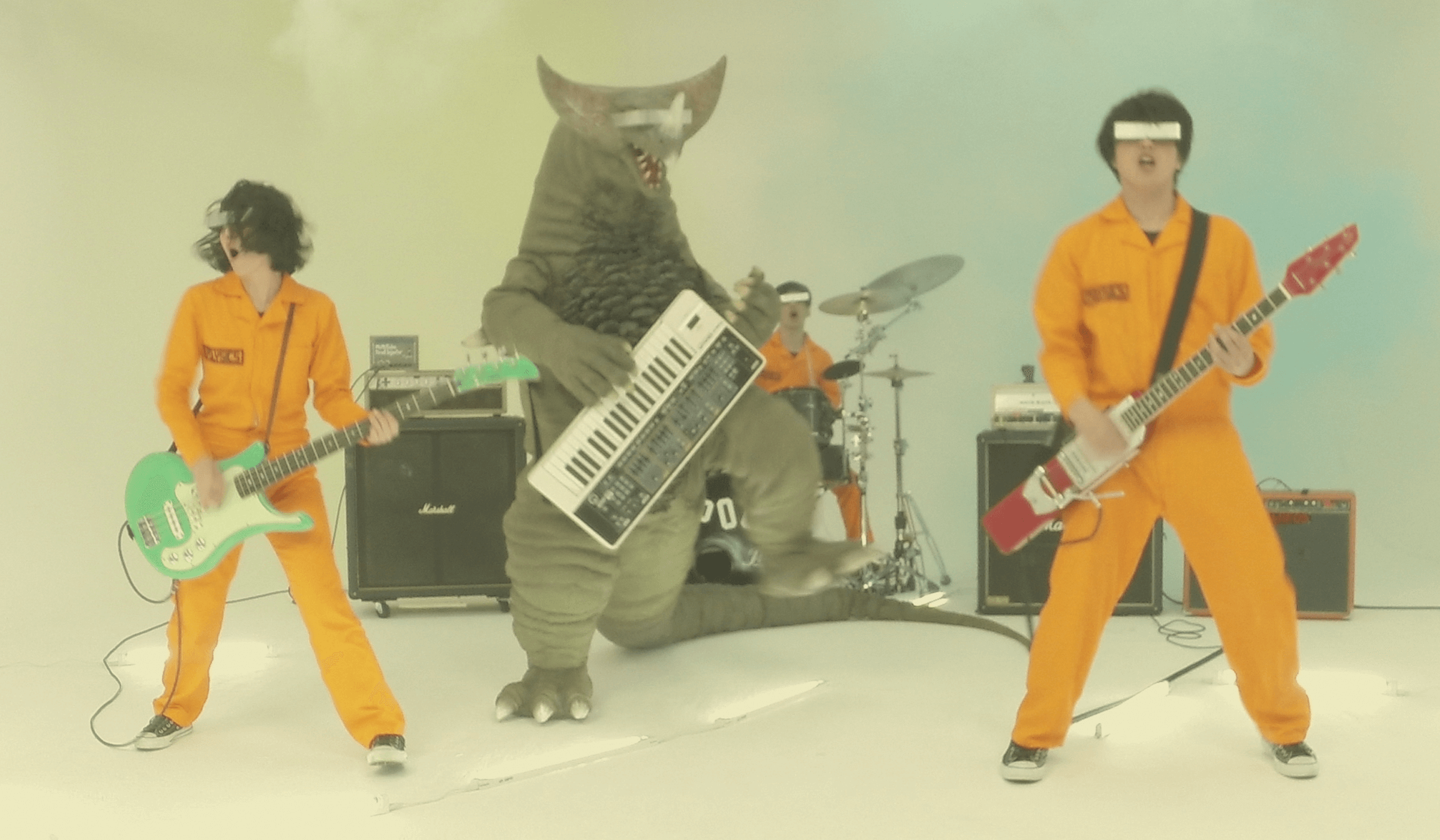 "POLYSICS Music Video ""King of Monsters: Here comes Gomora, the Ancient Terror"""